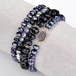 Druzy glass beaded bracelets